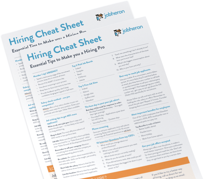 Ultimate Hiring Cheat Sheet